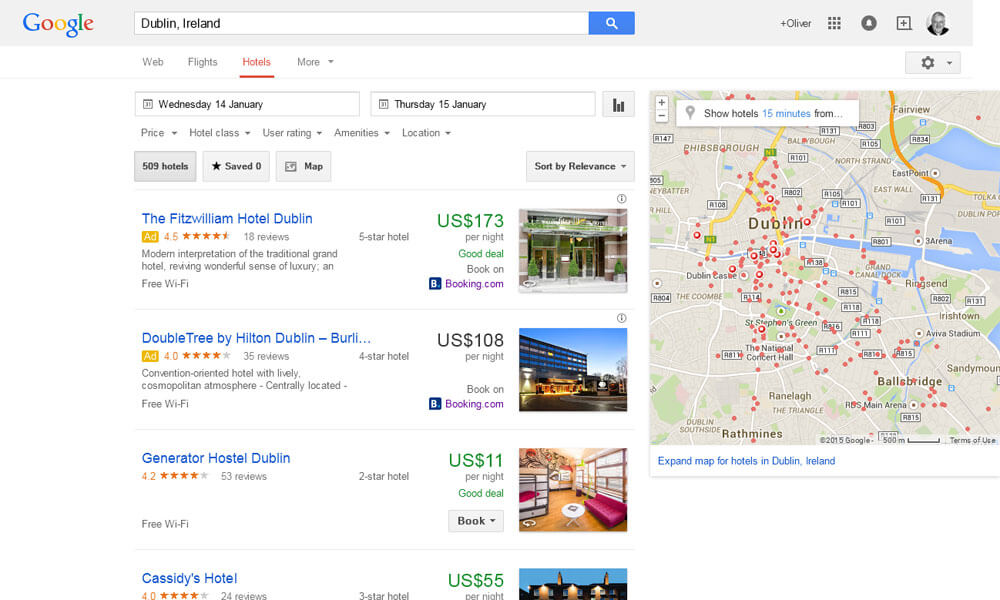 Google-Hotel-Finder-Dublin-search-results