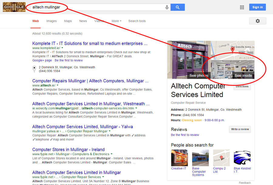 Alltech Mullingar Google Search Result