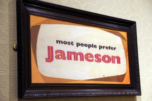 Most people prefer Jameson vintage ad in An Pucan Pub Galway_0506