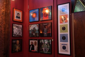 Album covers decorate An Pucan Pub Galway_0516
